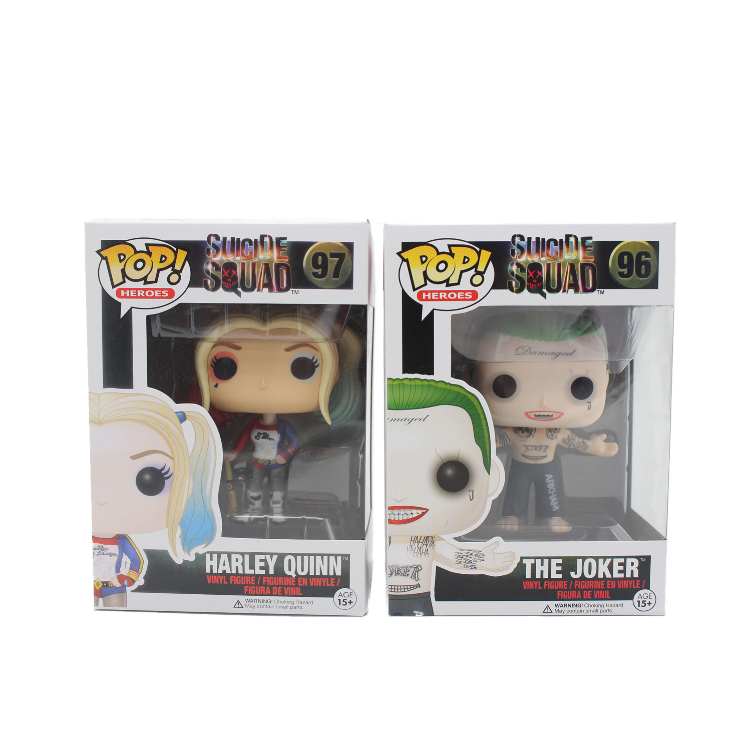 Funko Pop 96# 97# Suicide Squad Boomerang Batman Joker Harley Quinn Deadshot Rick Katana Collectible Vinyl Figure Model(China (Mainland))