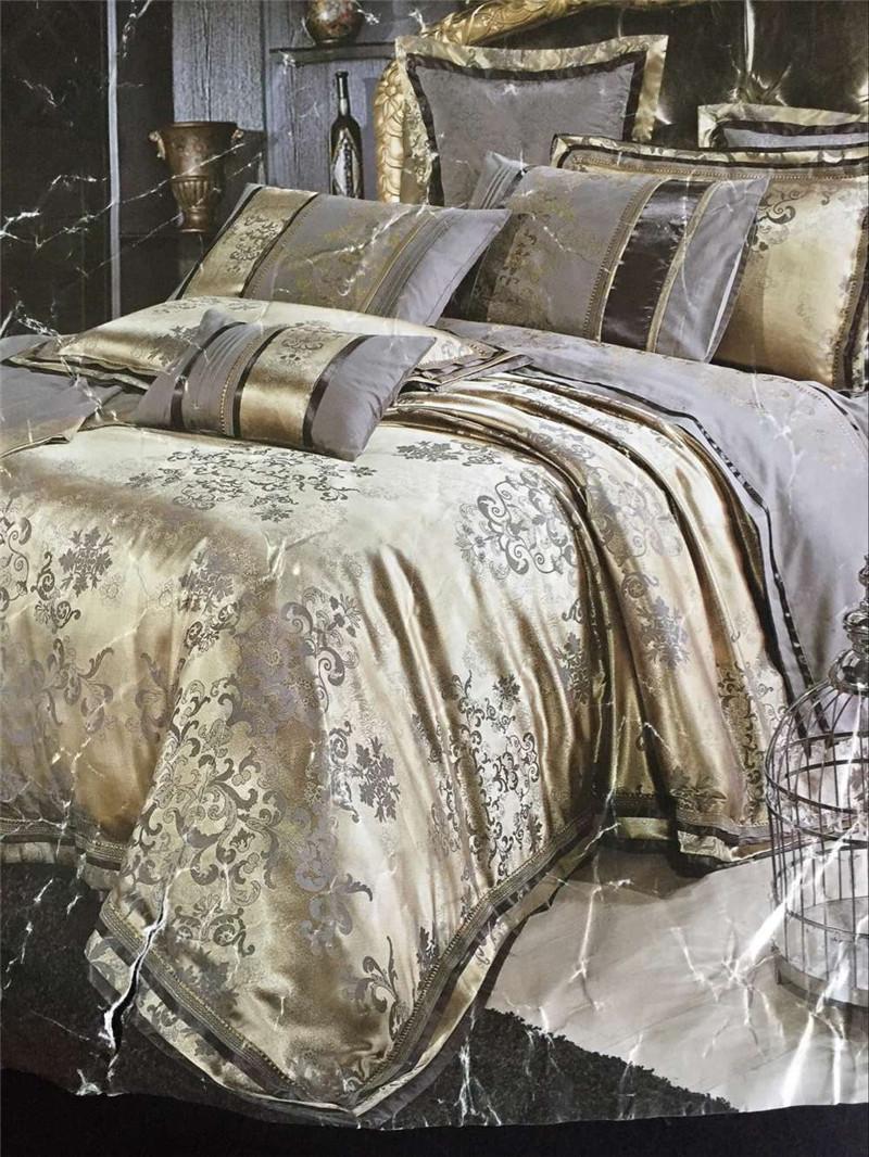 4pcs Luxury Damask Tribute Silk Bedding Set King Size