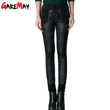 2016 Pants Winter Leggings Female Plus Outer Wear High Waisted Ladies Waterproof Warm Women Down Cotton Pants Trousers Big Size(China (Mainland))