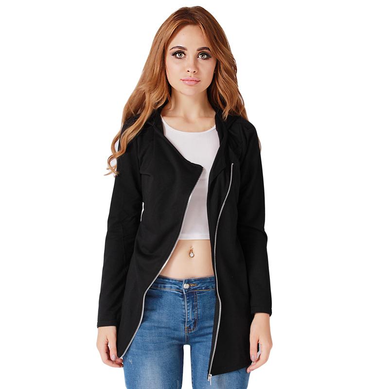 New Spring/Autumn Modern Women Jacket Coat Thin Casual Zipper Hoodie Long Sleeve Korean Style Plus Size Design Sense Like Woolen(China (Mainland))