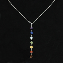 Buy 7 Rainbow Reiki Chakra Pendants Purple Bulk Opal Round Beads Natural Stone Necklaces Silver Chain Collier Femme Girls Jewelry for $1.99 in AliExpress store