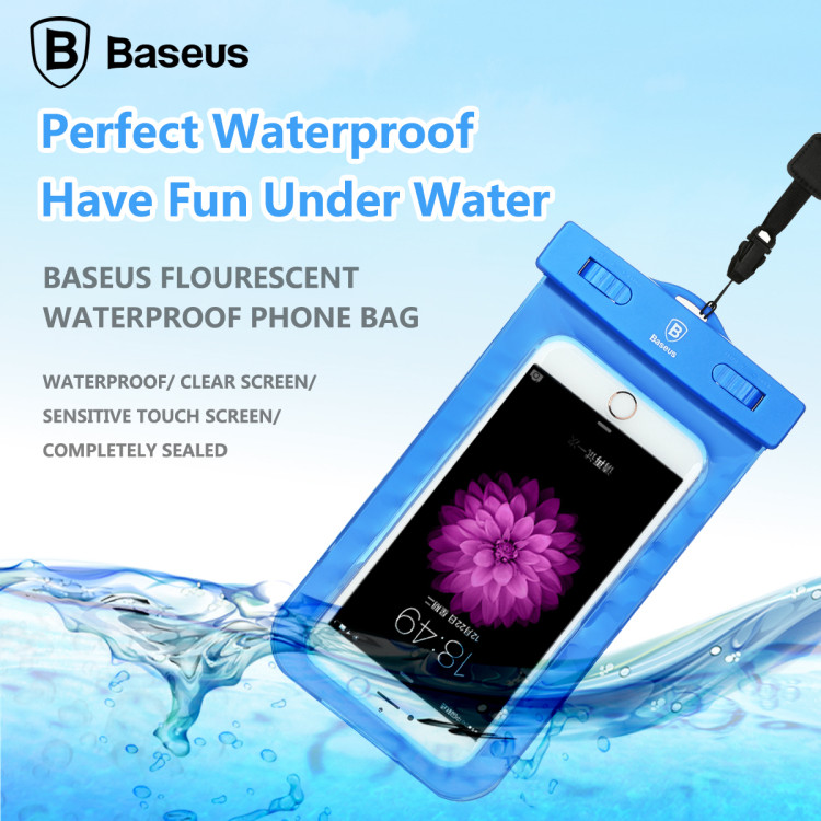 BASEUS Boutique High Quality Waterproof Bag Fluorescent Case for iPhone 6 Plus 5C 4 for Samsung S7 Edge Below 5.5'' Mobile Phone(China (Mainland))