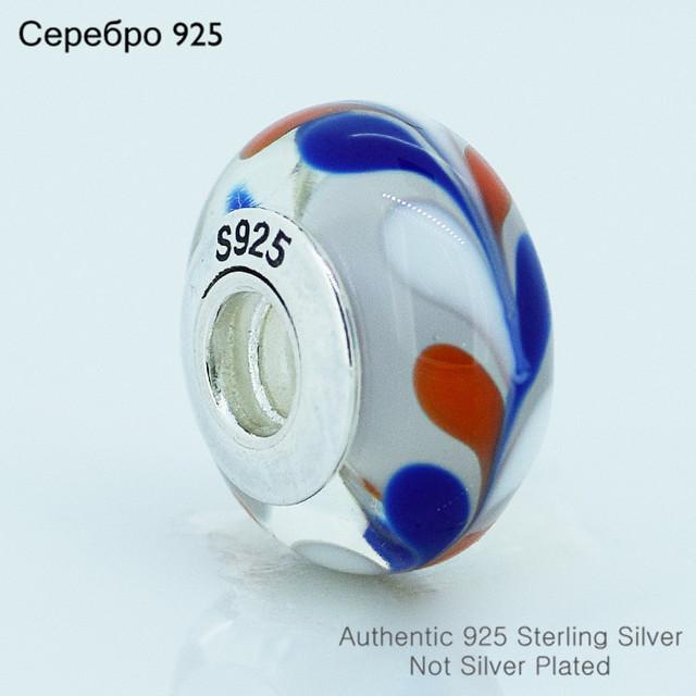 Бусины 925-Sterling-Silver абстрактная живопись муранского стекла женщин DIY ювелирных изделий подходит европейский бренд прелести браслет A602