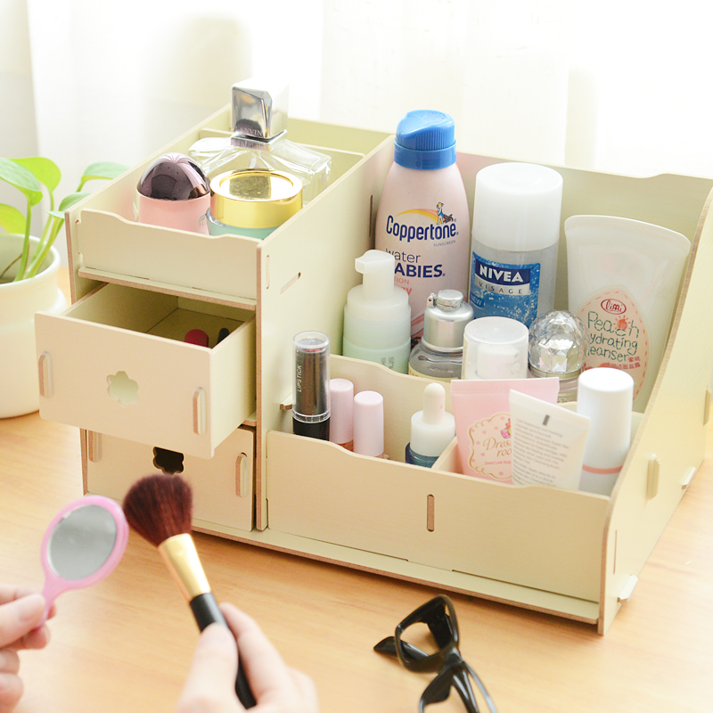 DIY-Cosmetic-Makeup-Wooden-Storage-Box-Multicolour-Desktop-Wood ...