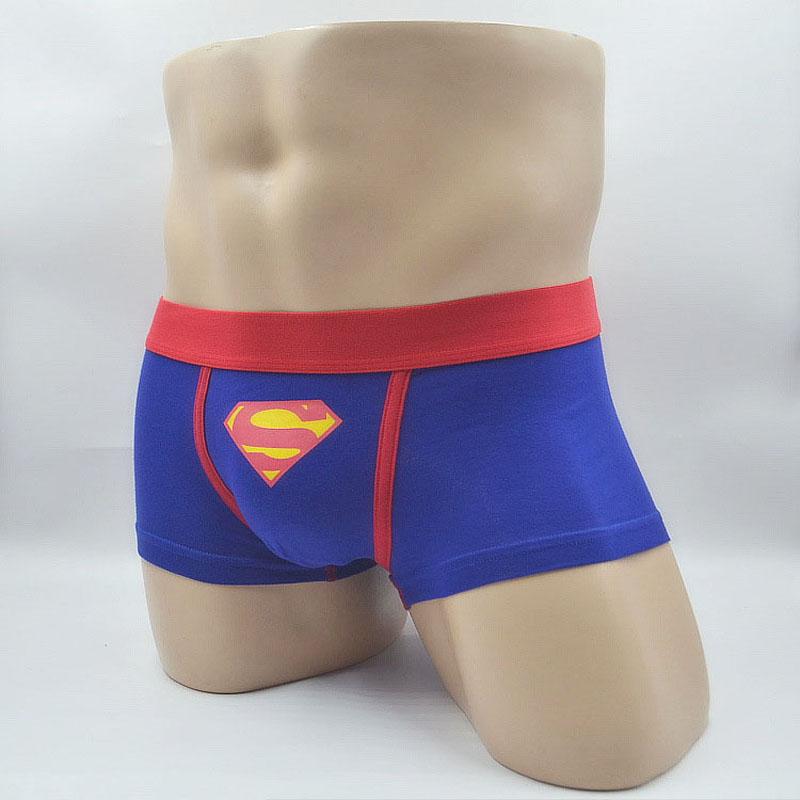 5 pcs/lot hot sale Superman Cartoon men boxer shorts mens boxers mens underwear Sexy Cotton male underpant Одежда и ак�е��уары<br><br><br>Aliexpress