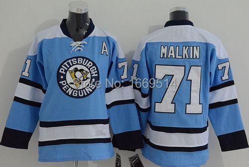 Cheap Pittsburgh Penguins #71 Evgeni Malkin Youth/kids Light Blue Third Jersey Wholesale(China (Mainland))