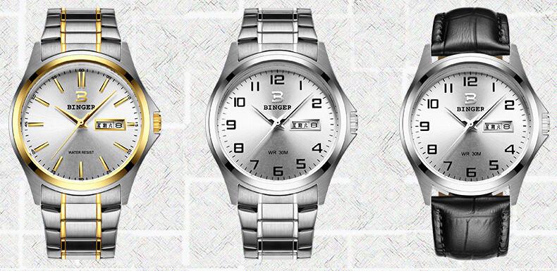 2016 New Gold Men Fashion Wholesale Wristwatches Luxury Brand Men's Binger Watch Sports Watches Switzerland Man Army Watch