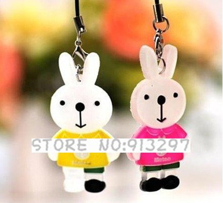 wholesale free shipping Sweet Cute Mimmy Rabbit Mobile Chain Lovers Cell phone Charms(China (Mainland))