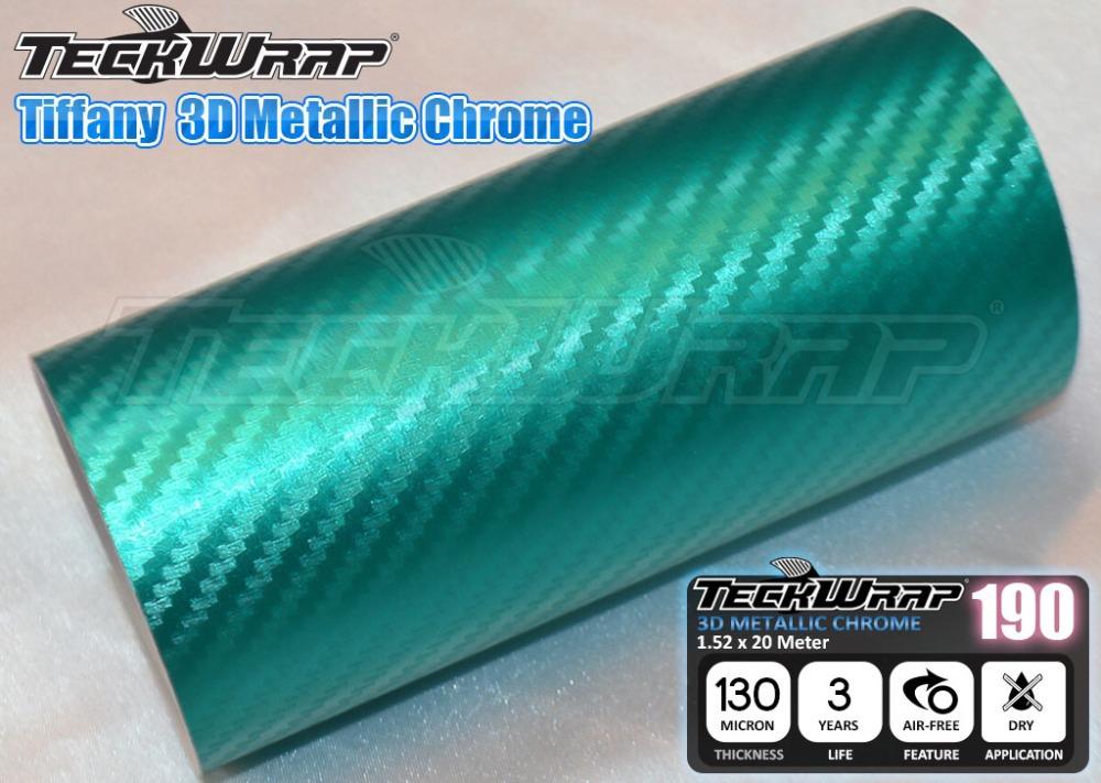 New Fresh Mint 3D Carbon Metallic Chrome Wrapping Film 1.52x20M Air Free Bubble Matte Chrome Vinyl VCH305C(China (Mainland))