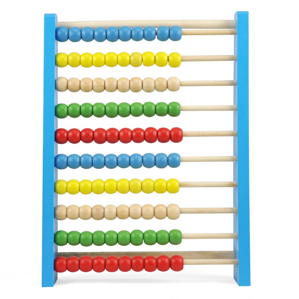New! New! New!UK CUTE Childrens Large Wooden Bead Abacus Counting Frame Educational Maths Toy(China (Mainland))