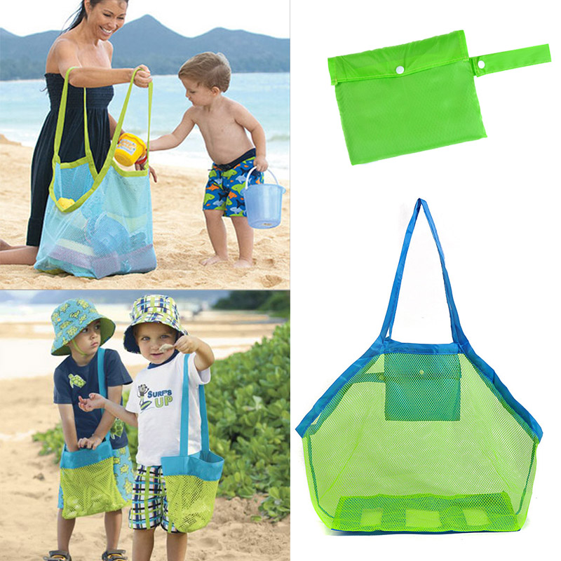 1PCS Kids Baby Summer Mesh Beach Bag Pack Pouch Box Storage Bags Children Beach Toys Collection Cloth Towel Outdoor Useful Bag(China (Mainland))