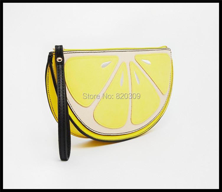 Hot Trend PU Leather Lemon Handbags Women Famous Brands Designer Handbags High Quality Women Clutch Free Shipping(China (Mainland))