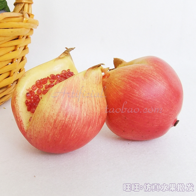 Shop popular artificial fruit decorations from china for Artificial pomegranate decoration