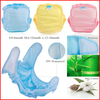 Bamboo Reusable Nappies Newborn Cloth Diapers Insert Breathable Baby Training Reusable Panties S M L Soft Disposable Diapers