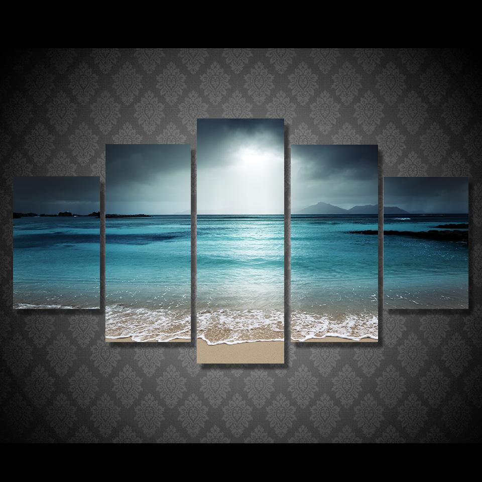 Strand muur schilderijen koop goedkope strand muur schilderijen loten van chinese strand muur - Modulaire muur ...