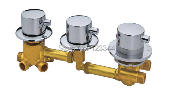 Shower room thermostatic faucet  copper material shower room tap brass mixer <br><br>Aliexpress