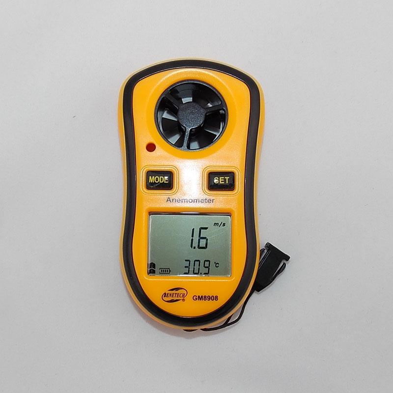 Original marca BENETECH GM8908 30 m/s (65MPH) de mano Digital de Velocidad Del Viento del Metro del Calibrador Medir Termómetro Anemómetro(China (Mainland))