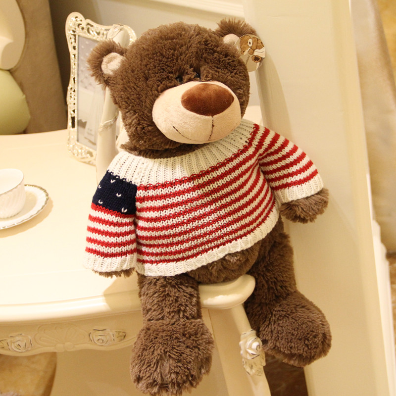 free shipping Plush toy bear lovers doll birthday gift day gift(China (Mainland))