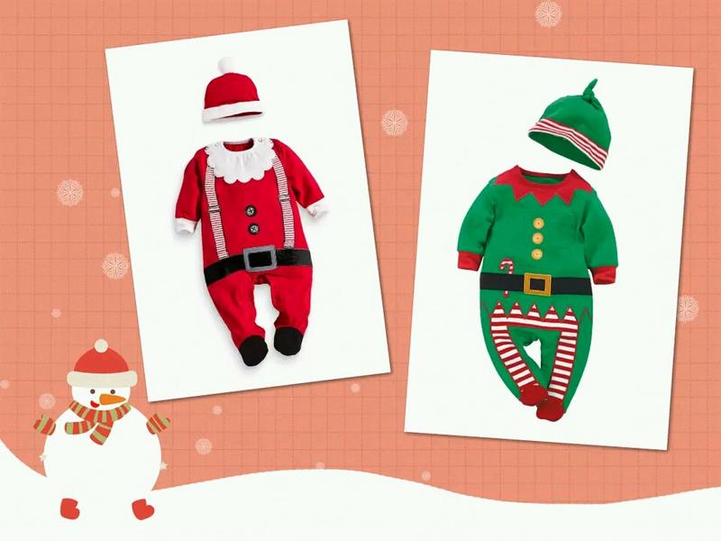 Retail 2015 New 2pcs baby romper baby christmas costumes Spring autumn hat roupas de bebe(China (Mainland))