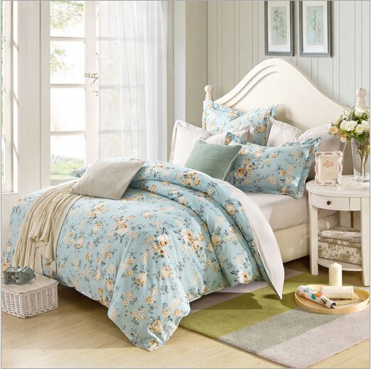 reactive printing high quality competitive price 4pcs fabric cotton bedclothes from supplier(China (Mainland))