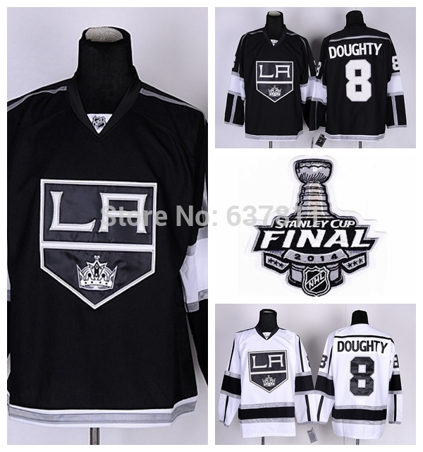 Men's Los Angeles Kings Hockey Jerseys #8 Drew Doughty Jersey Team Color Home Black Road White Away LA Kings Stitched Jersey(China (Mainland))
