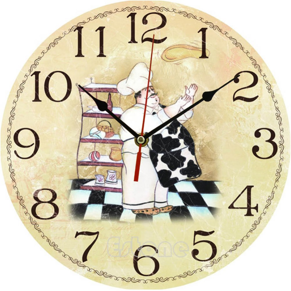 Wholesale Vintage Wooden Wall Clock Large Shabby Chic Rustic Kitchen ...