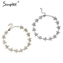 Simplee star choker колье и кулоны аксессуары изящных ювелирных изделий цепи ожерелье винтаж chocker женская одежда аксессуары(China (Mainland))