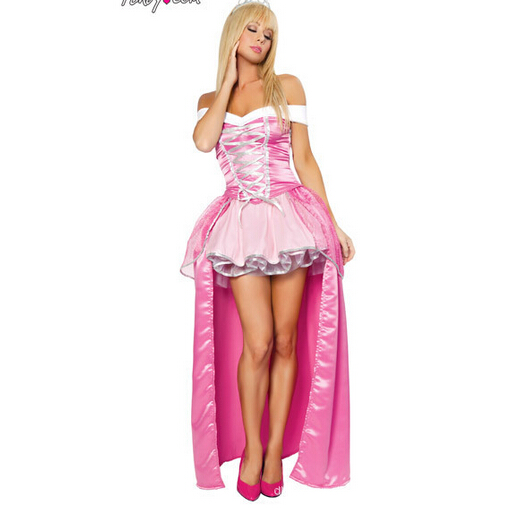 Free shipping hifg quality sleeping beauty princess aurora cosplay hot selling fashion fancy adult women costume halloween set(China (Mainland))