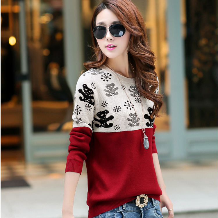2015 Spring And Autumn New Bear Knitted Sweater(China (Mainland))