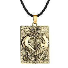 Cxwind Retro słowiański talizman urok Symbol naszyjnik geometryczny okrągły Kolovrat wisiorek Viking mężczyzn biżuteria trójkąt joga naszyjniki(China)