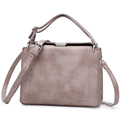Vintage Box type Square Shoulder Bag Women Chic Lock Japan Style Simple Plain Bag Ladies Designer