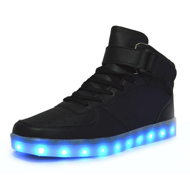 Из светодиодов обувь 8 цветов из светодиодов светящиеся обувь мужчин женщин мода ...