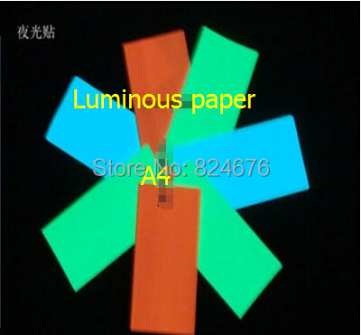 100*150mm Mixed Luminous Sticker Paper Photoluminescent Glow In The Dark Luminescent Sticker Switch Sticker Free shipping 4pcs(China (Mainland))
