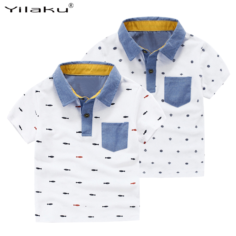 2016 Summer Boys Short Sleeve T-Shirts for Children Printed T Shirt Kids Tops Tees Boys Polo Shirt Children Clothing CG072(China (Mainland))