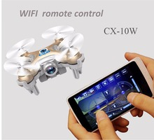 RC Quadcopter Cheerson CX-10W 4CH 6-Axis Gyro Wifi FPV RTF Mini RC Quadcopter Drone CX10 Update Version Helicopter Toy