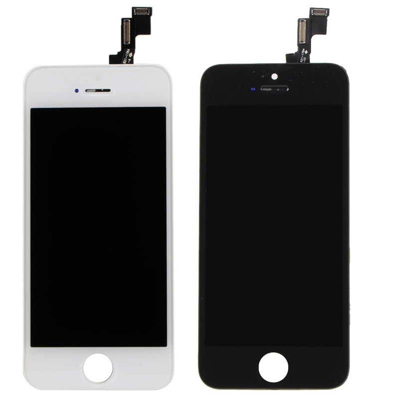White & Black Front LCD Display With Digitizer Touch Screen Replacement For iPhone 5S 5C VAH82 VAH83 T56(China (Mainland))