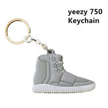 1 Dozen =6 Key Chain Yeezy Shoes Keychain Shoes Key Rings Cute Sneaker Keychain Silicone Key Holder Yeezy Keychain(China (Mainland))