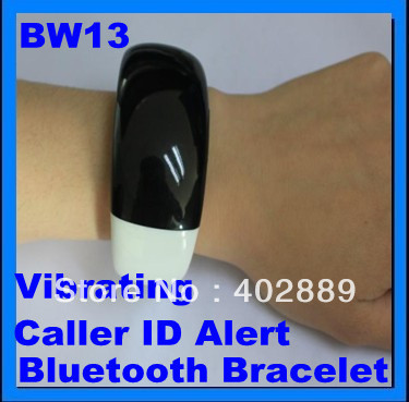 Ladies Bluetooth Fashion Bracelet with Time Display Call/Distance Vibration Caller ID 10pcs/lot Free Shipping