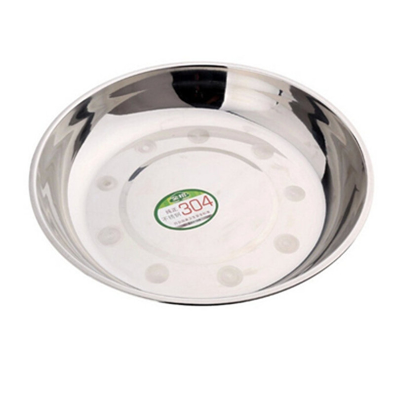 stainless steel Plate fish dish round relish plate multi-purpose sauce vinegar flavored fruit vegetable dish W-87 free shipping(China (Mainland))
