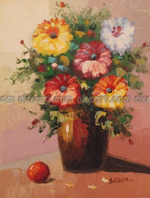 oil paintings Flowers Flat Summer Arrangement with Fruit cheap country decorations High quality Modern Art Deco(China (Mainland))