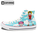 One Piece Converse All Star Women Men Shoes Anime Luffy Chopper Design Hand Painted Shoes Boys