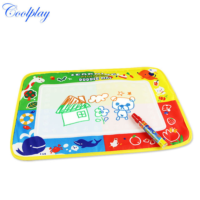 Free shipping CP1367 46X30cm Drawing Toys Mat Aquadoodle Drawing Mat&1 Magic Pen/Water Drawing Replacement Mat