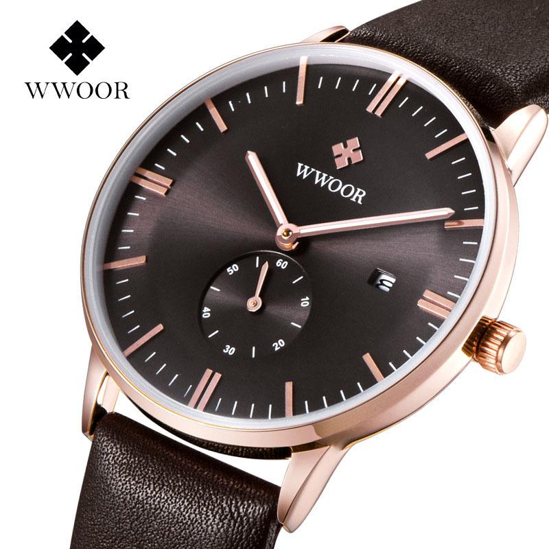 Brand wwoor Men's watches quartz-watch Watch men quartz watch vintage calendar Luxury relogio masculino Genuine Gift Packing g4(China (Mainland))