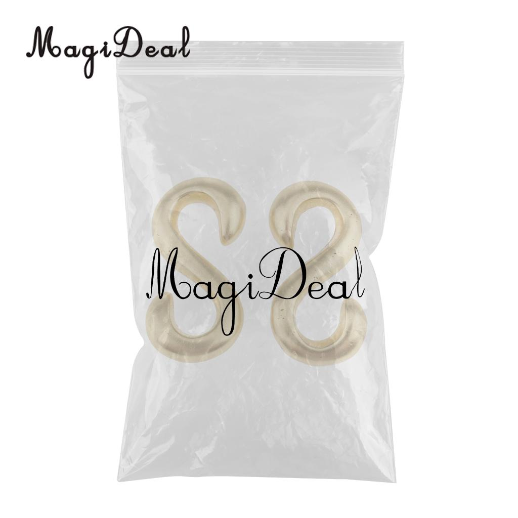MagiDeal 2 Pieces S Shaped Smooth Solid Brass Hooks DIY 2.5x1.3 cm Pure copper buckle bracelet brass hook luggage accessories