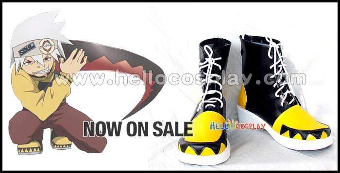 Free Shipping Soul Eater Cosplay Boots From Soul Eater Tailor-Made(China (Mainland))