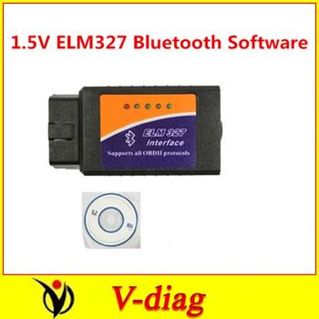 Works On Android Torque v2.1 2012 elm327 bluetooth ELM 327 Interface OBD2 / OBD II Auto Car Diagnostic Scanner OBDII