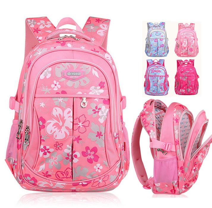 Korean New Fashion Child Primary School Backpack Girls Waterproof Nylon Student Shoulder Backpacks Kids School Bags Book