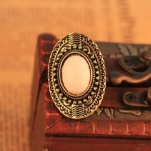 New Hot 2014 Brand Designed Gem Acrylic Adjust Size Punk Vintage Rings For Women Accessories Jewelry
