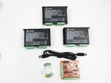 CNC mach3 usb 3 Axis Kit, 2DM542 3 Axis Driver replace M542,2M542 + mach3 4 Axis USB CNC Stepper Motor Controller card 100KHz
