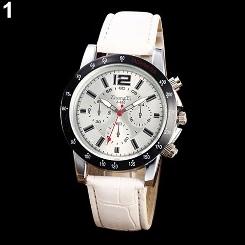 Hot Mens Faux Leather Band Sports Analog Quartz Military Wrist Watch for Business design<br><br>Aliexpress
